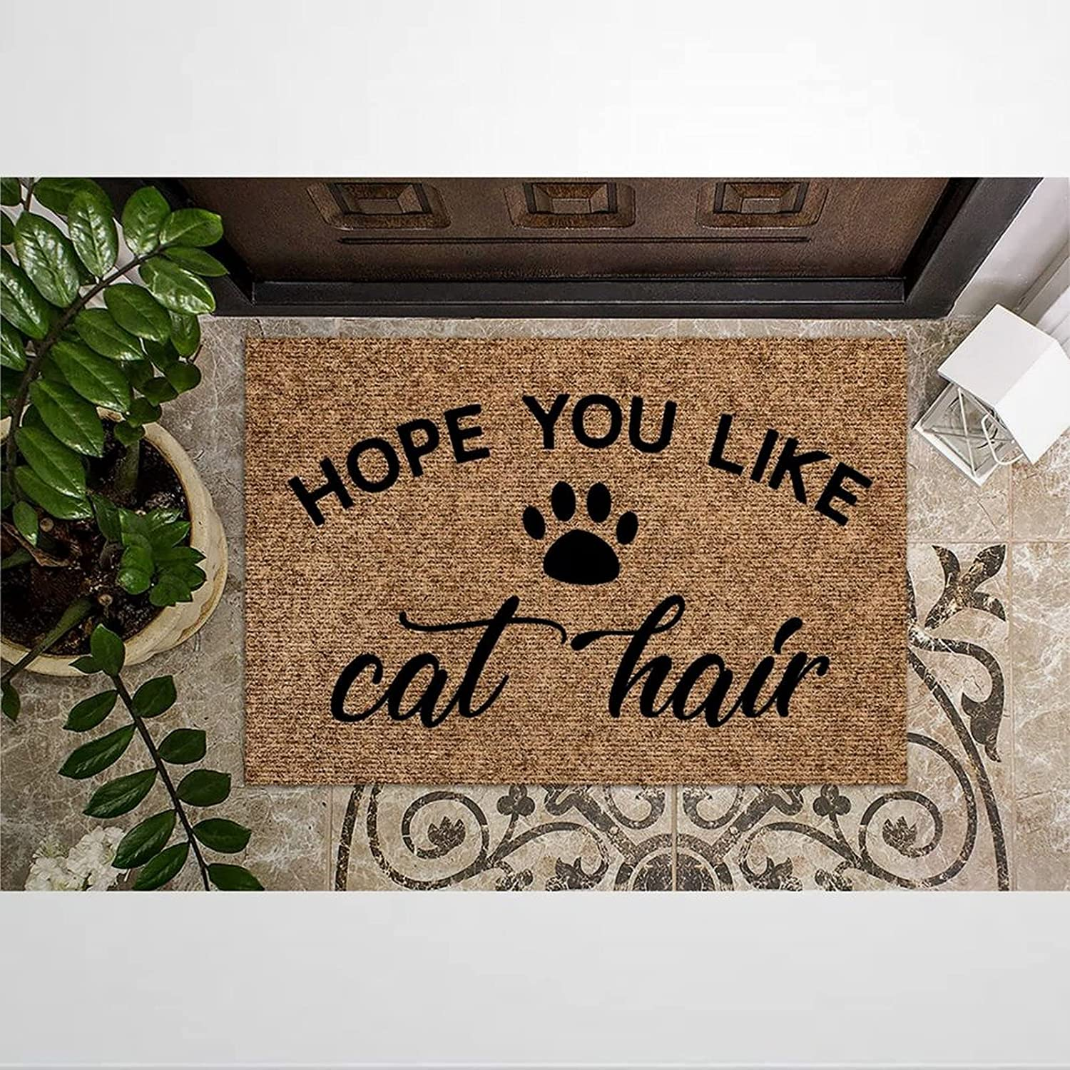 Hope You Like Cat Hair Coir Rustic Doormat Mats Reservation Door Welcome for Recommendation