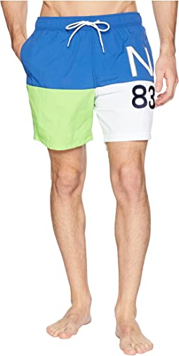 Color Blocked Swim Trunk