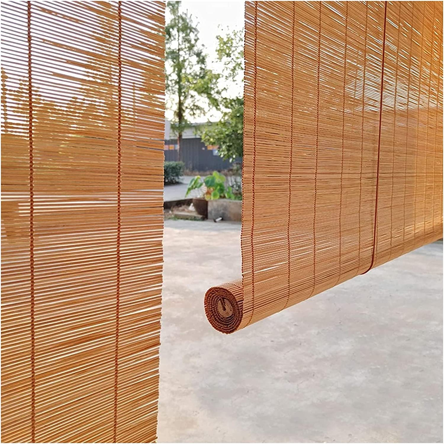 MTDWEITOO Bamboo Blinds for Windows 2021 spring and summer new Roller Natural New York Mall Blind