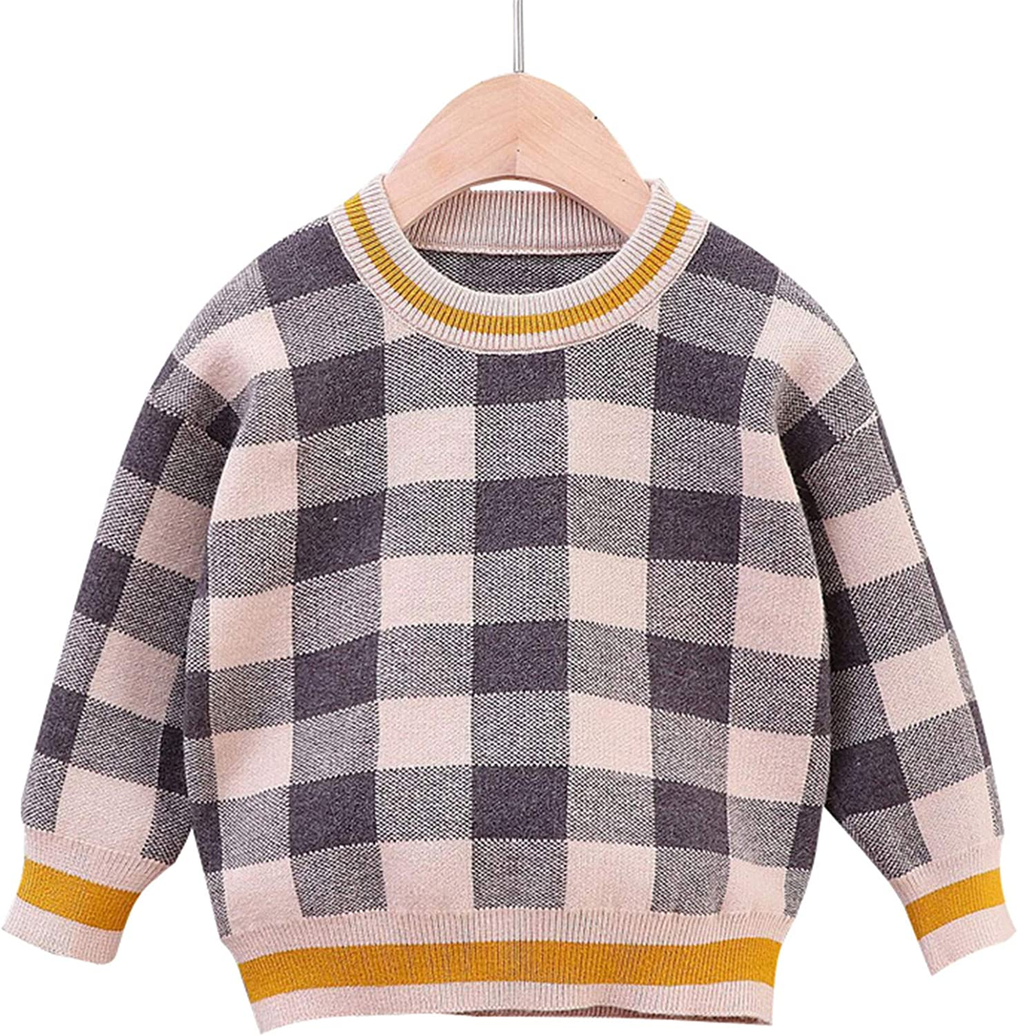 Toddler Baby Crewneck Sweatshirt Girl Boy Fall Long Sleeve Rainbow Floral Polka Dot Pullover T-Shirt Sweater Outfit