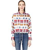 Sonia Rykiel - Multicoloured Satin Check Top
