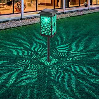 Solar Lights Outdoor, Bebrant Upgraded Solar Pathway Garden Lights Super Bright & Longer Working Time IP65 Waterproof Landscape Lighting for Yard Patio Walkway Landscape Spike Path Light(Multi-Color)
