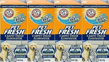 4 Pk, Arm & Hammer Pet Fresh Carpet Odour Eliminator Plus Oxi Clean Dirt Fighters