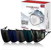 قناع الوجه النسر السويسري مع حماية ذكية HeiQ Viroblock - غطاء شبكي للوجه قابل لإعادة الاستخدام