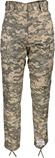 Mens ACU Digital Camo Poly/Cotton Military BDU Army Fatigues Cargo Pants with Pin