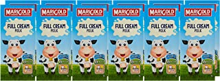 MARIGOLD Full Cream UHT Milk, Plain, 1L , Pack of 12