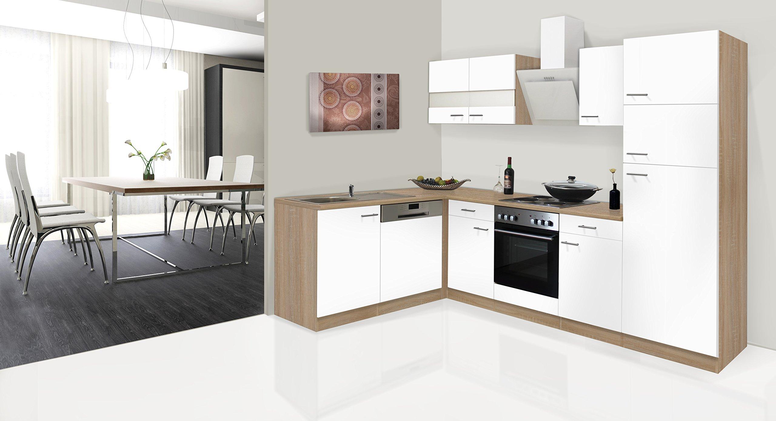 respekta Economy - Mueble para Cocina en ángulo en L Blanco 280 x 172 cm Incluye Campana de diseño: Amazon.es: Hogar