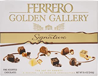 Golden Gallery Signature Fine Assorted Chocolate Gift Set by Ferrero, 24 Count, 8.4 oz (240g)