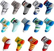 Lictin 14 Pares Antideslizante Calcetines Calcetines Calcetines de niño Talla 2-3 años de Edad los niños Surtidos Animal Print niños niñas Calcetines Color al Azar