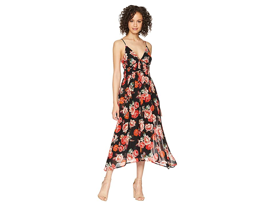ASTR the Label Marissa Dress (Black Multi Floral) Women