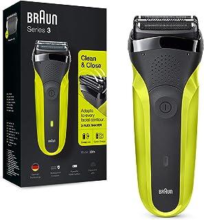 Braun Series 3 300 Afeitadora Eléctrica, Maquinilla para Hombre con 3 Láminas Flexibles, Recargable, Inalámbrica, Lavable,...