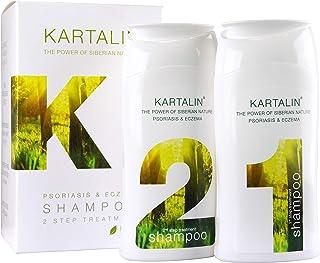 Kartalin Champú Psoriasis Champú Eczema de 2 pasos, BIO shampoo, 2x150ml