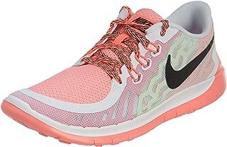 Kid's Free 5.0 Running Shoe White/Pink Pow/Lava Glow/Black 5.5Y