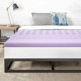 Best Price Mattress Twin 3 Inch 5-Zone Memory Foam Bed Topper with Lavender Infused Cooling Mattress Pad