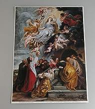 BiblioArt Series P.P.ルーベンス「聖母被昇天」ジークレープリント(A4サイズ額絵)