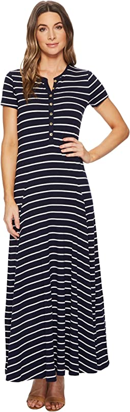 LAUREN Ralph Lauren Striped Cotton-Blend Maxidress