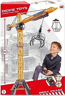 Dickie Toys 203462412 - Mega Kraan, Elektrische Kraan met Afstandsbediening, voor Kinderen vanaf 3 jaar, 203462411, 120 cm...