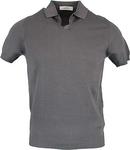 Alpha Studio Homme AU9031B6071 gris Coton Polo