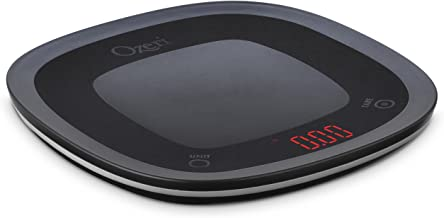 Ozeri ZK21-B Touch Waterproof Digital, Washable and Submersible Kitchen, Chef, Food, Vegetable, Scale, Small, Black