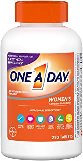 One A Day Women's Multivitamin, Supplement with Vitamin A, Vitamin C, Vitamin D, Vitamin E and Zinc for Immune Health Supp...