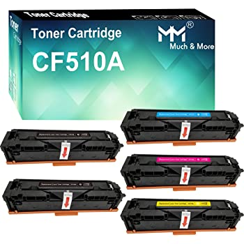 WSHZ Compatible with Cf510aprinter Toner Cartridge for HP CF510A Toner Cartridge M154a Ink Cartridge Hp204a Toner M181fw Printer Toner Cartridge,4colors