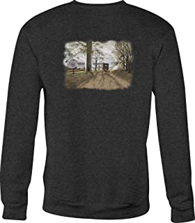 Crewneck Sweatshirt Headin Home Cariage Farmhouse Dirt Road