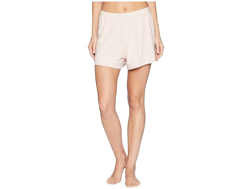 Skin Hazel Pajama Shorts (Cafe Creme/White) Women