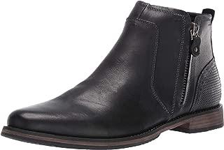 mens casual dress boots black