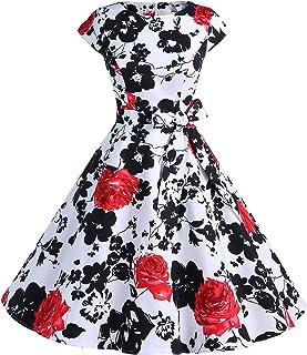 71549d78af8 Dressystar Women Vintage 1950s Retro Rockabilly Prom Dresses Cap-Sleeve