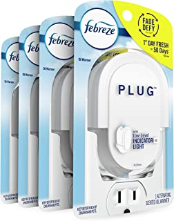 Febreze Odor-eliminating Fade Defy Plug, Scented Oil Warmer, 1 Count (Pack of 4)