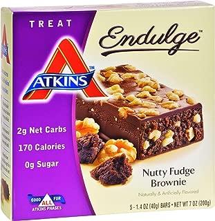 Atkins Endulge Nutty Fudge Brownie Treat Bar, 1.4 oz. Bars, 5 Count(3-pack)