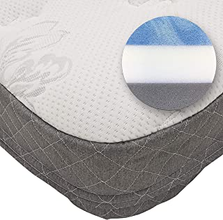Road Premier Cool Gel Memory Foam Truck Mattress with Plush Quilted Cover, 80