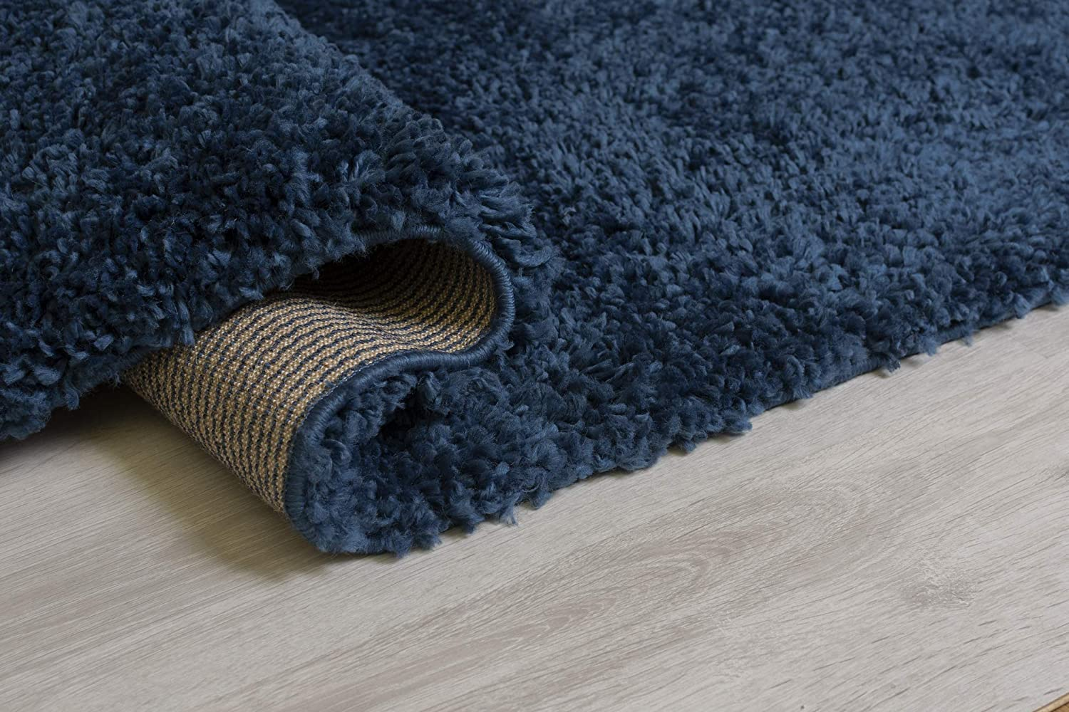 Brilliance Sparks Black Thick Super Soft Shaggy Rug in various sizes and circle
