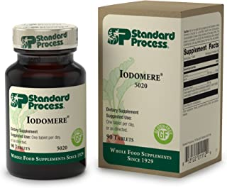 Standard Process - Iodomere - Supports Healthy Thyroid, Immune, and Cellular Function, Provides 200 mcg Iodine, Gluten Free - 90 Tablets