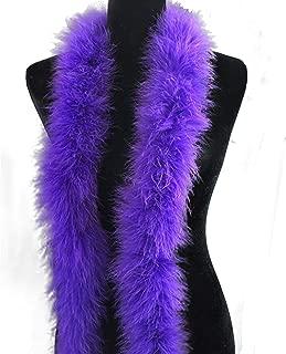 Ws&Wt 2 Yards 30g Marabou Fluffy Feather Boa DIY Craft Trim Halloween Wedding Party Decoration