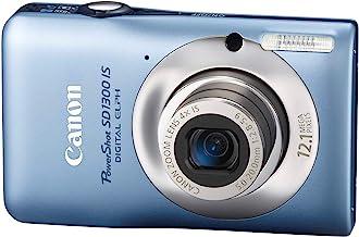 Canon PowerShot SD1300IS Cámara digital de 12,1 MP con zoom estabilizado de imagen óptica gran angular 4x y LCD de 2,7 pulgadas (azul) (modelo antiguo)