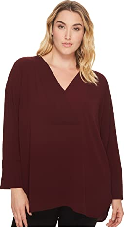 Vince Camuto Specialty Size - Plus Size Doubled V-Placket Blouse