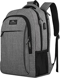 Travel Laptop Backpack, Business Anti Theft Slim Durable Laptops Backpack with USB Charging Port, Water Resistant College ...