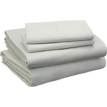 Amazon Basics Cotton and Rayon Derived from Bamboo Sheet Set - Cal King, Sage