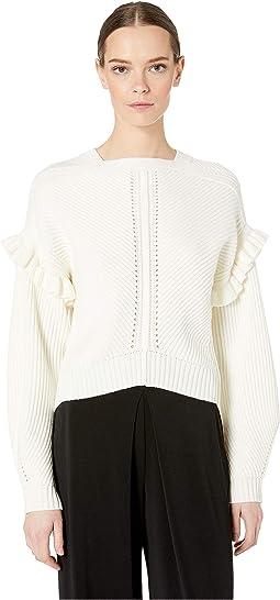 Cashfeelyn Knit Cashfeel Shoulder Detail Sweater