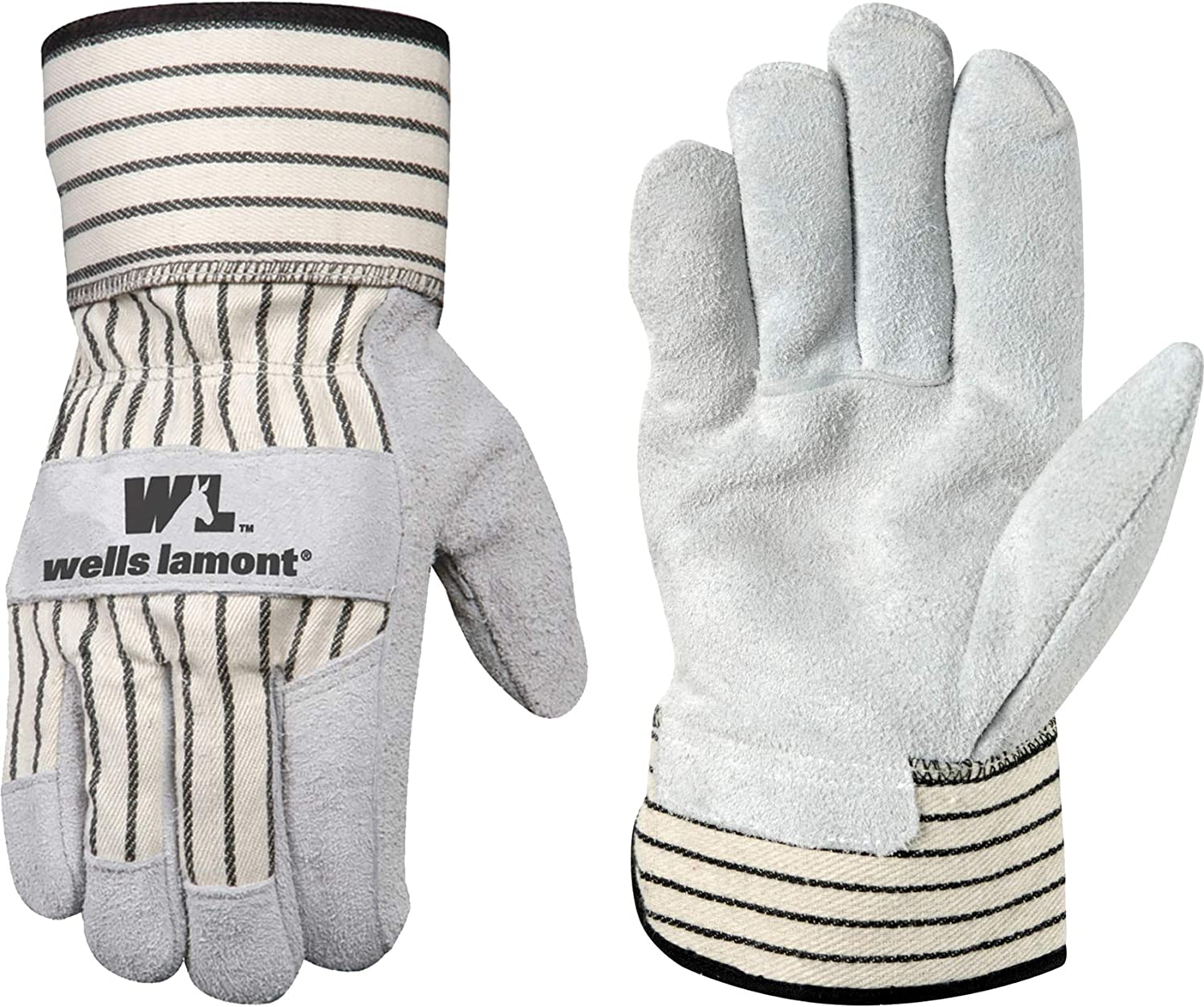 Brand Cheap Sale Venue discount Wells Lamont Leather Work Gloves with Suede E Safety Palm Cuff