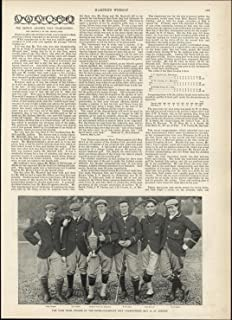 Yale Golf Team Championships 1897 vintage newsprint fascinating old sheet paper