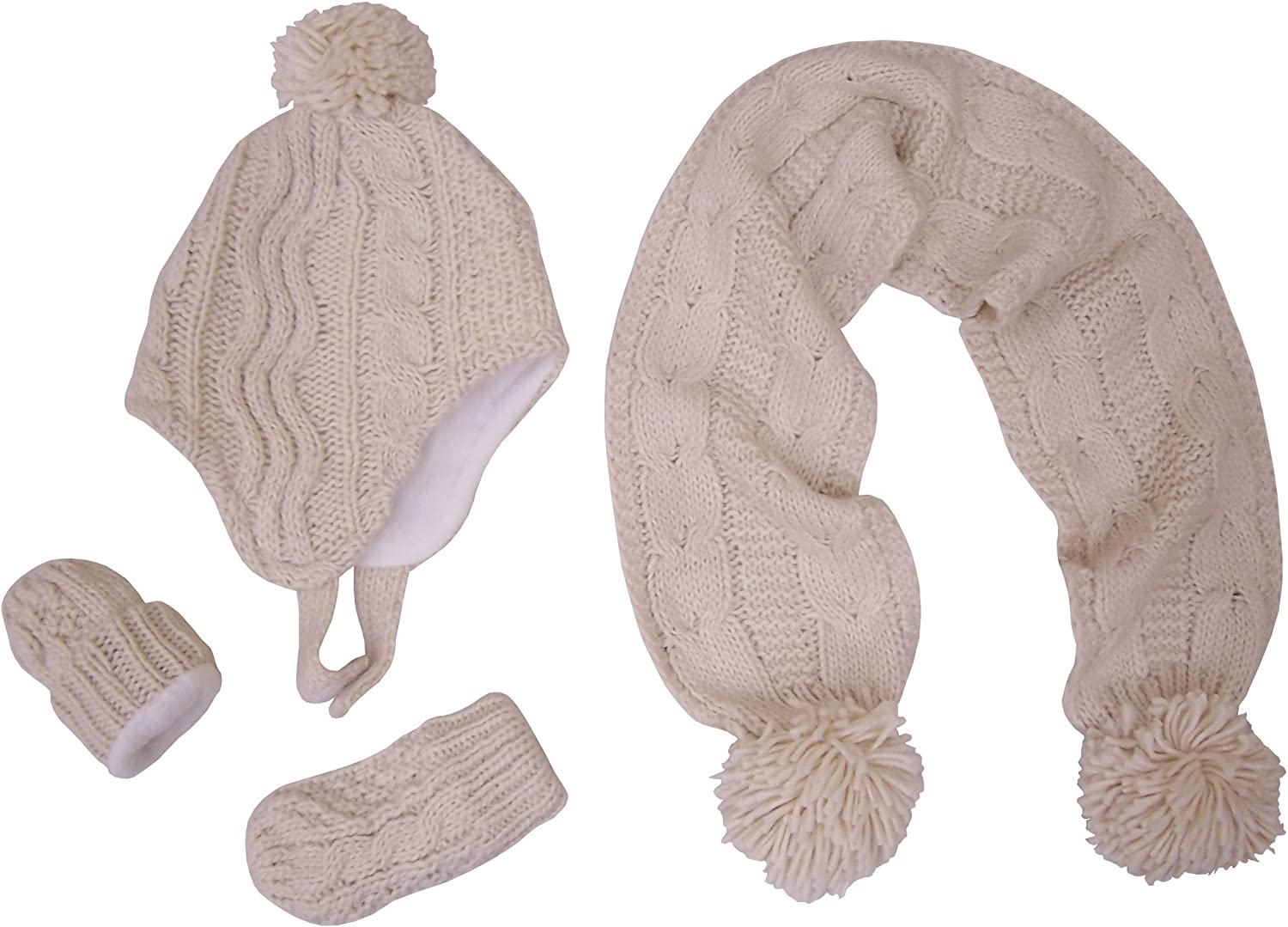 N'Ice Caps Little Girls Omaha Mall and Selling rankings Infants Layere Cable Knit Double 3PC