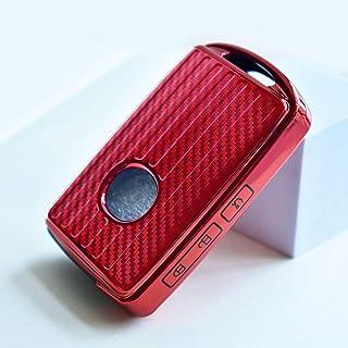 ontto Autoschlüssel Hülle Cover fürMazda 3 Alexa CX 30 2019 2020 CX 5 CX 8 2020 Schlüsselhülle mit Schlüsselanhänger Weiche TPU Schlüssel Schutz Etui Fall 3 Tasten Rot