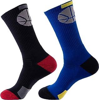 7DayOtter Odor Resistant Men's Long Cotton Socks Athletic Football Soccer Sock for Outdoor Sports