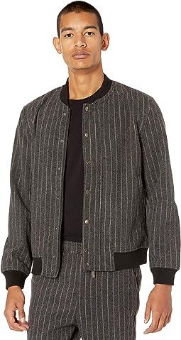 Ryker Wool Striped Bomber Jacket