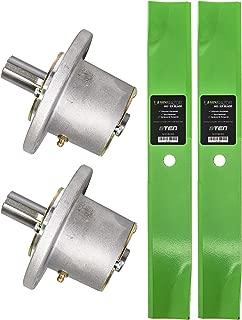 8TEN Spindle Hi-Lift Blade Kit for Exmark 36 Inch Deck Metro Viking Standard Five Speed Variable Speed Walk Behind Mower