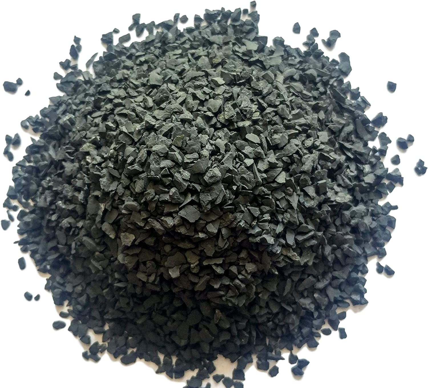 Fees free!! Black Shungite Crushed free shipping Chips - Large Russi Authentic 100% Sand