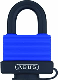 ABUS 70/45 All Weather Solid Brass Blue Padlock Keyed Different - Stainessless Steel Shackle