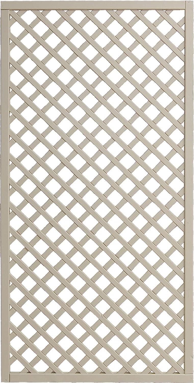 Andrewex wooden fence, garden fence, fencing panel 180x90, varnished, latte